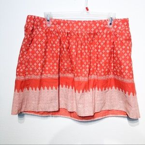 Old Navy jupe orange midi skirt large